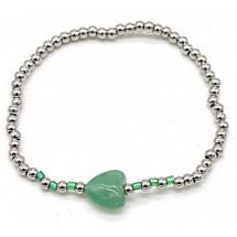 AC 0012 Stainless steel bracelet/Natuursteen