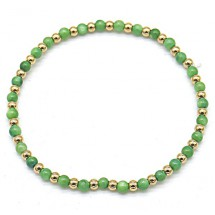 AB 0133 Stainless steel bracelet/Natuursteen