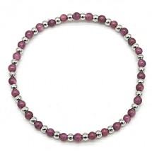 AB 0192 Stainless steel bracelet/Natuursteen