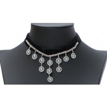CJ 0287 Choker Strass/Pearls