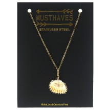 A 0150C Stainless steel necklace/Shell