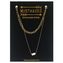 AF 0306 Stainless steel necklace/Freshwater Pearl