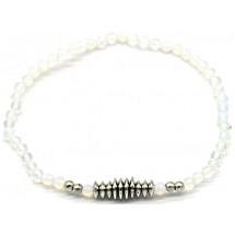 C 0194 Moonstone Bracelet White-Silver