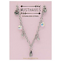 E 0024A Stainless steel kinderketting