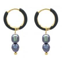 AK 0075 Stainless steel earrings/Freshwater Pearls