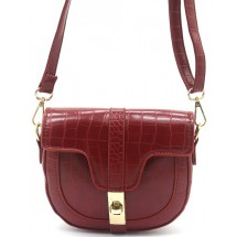 ET 0023A PU Leder/Croco-Red.