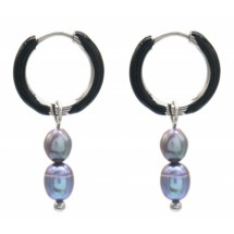 AK 0076 Stainless steel earrings/Freshwater Pearls