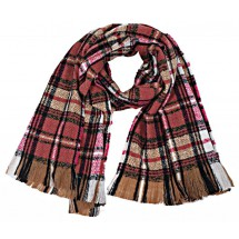 S 0058 Checkered scarf soft