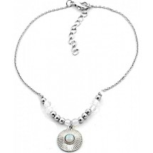 C 0180 Anklet with Moonstone Silver