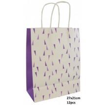 AD 0226 Papieren giftbag 27x21cm/12 stuks