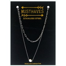 AF 0307 Stainless steel necklace/Freshwater Pearl