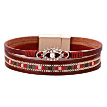 C 0068 Pu Lederen armband
