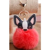 AF 0089 Tas/sleutelhanger-Fluffy Dog