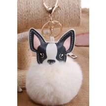 AF 0090 Tas/sleutelhanger-Fluffy Dog