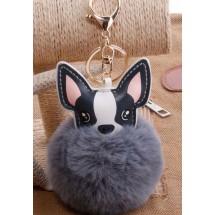 AF 0099 Tas/sleutelhanger-Fluffy Dog