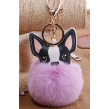 AF 0097 Tas/sleutelhanger-Fluffy Dog