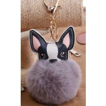 AF 0095 Tas/sleutelhanger-Fluffy Dog
