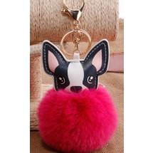 AF 0094 Tas/sleutelhanger-Fluffy Dog