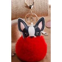 AF 0091 Tas/sleutelhanger-Fluffy Dog