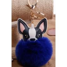 AF 0092 Tas/sleutelhanger-Fluffy Dog