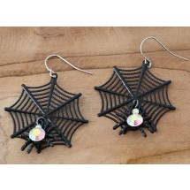 AB 0095 Earrings Gothic Spider